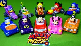 Disney Toys Mickey and the Roadster Racers Diecast Race Cars Minnie Mouse Donald Duck Surprise Toys!