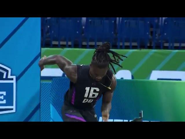 Donte Jackson runs a 4.32   40 yard dash   combine