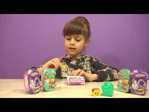Видео, Шопкинсы пакетики и корзинки с игрушкой сюрприз распаковка Shopkins surprise toys unboxing