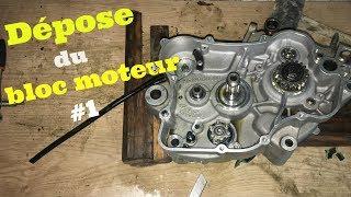 Gas Gas EC 125 - Dépose moteur #1 (changement roulements, joints spy vilebrequin et piston)