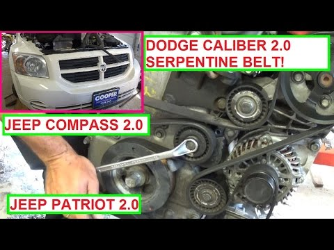 dodge caliber serpentine belt replacement and diagram 2 0  jeep patriot  jeep compass 2 0