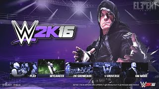 WWE 2K16 Demo - Undertaker Main Menu Option PS4/XB1 Notion
