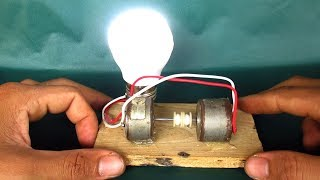Free energy light bulbs with motor - DIY projects experiments at home 2018