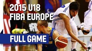 Czech Republic v Ukraine - Group A - Full Game - 2015 U18 European Championship Men