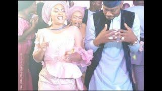 Bidemi Kosoko,Lateef Adedimeji & Bukola Adeeyo dance as bride and groom at Abimbola & Okiki Wedding