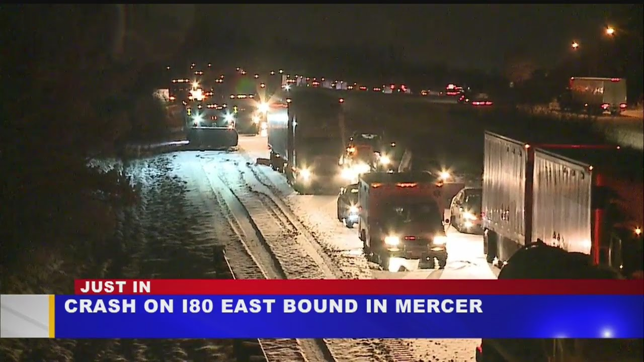 Several accidents close I-80 eastbound at Ohio/Pa  line in Hubbard