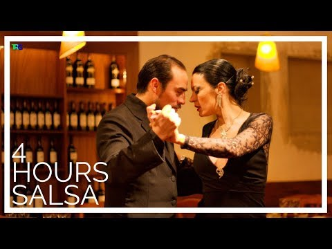Instrumental Salsa Romantica Music with Fireplace, Dance Playlist | Latin Music, Bachata, Cha Cha
