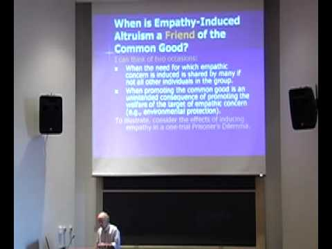 Empathy Induced Altruism