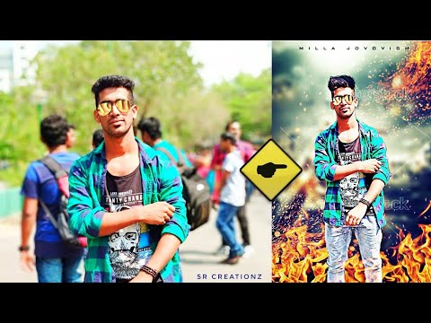 Picsart manipulation Fire effects action with hair style change ||SR CREATIONZ