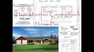 2,200 Square-foot House Plan Ranch Style, #h170 Mountain Country Ranch