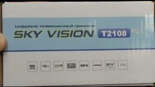 Обзор  ресивера DVB T2  SKY VISION T2108. Подключение, настройка и сброс.(, 2015-02-04T11:35:03.000Z)
