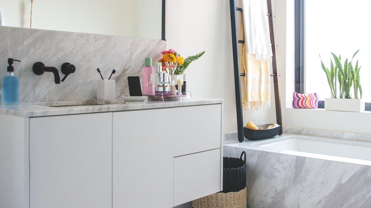 Fresh DIY Bathroom Decorating Makeover - YouTube