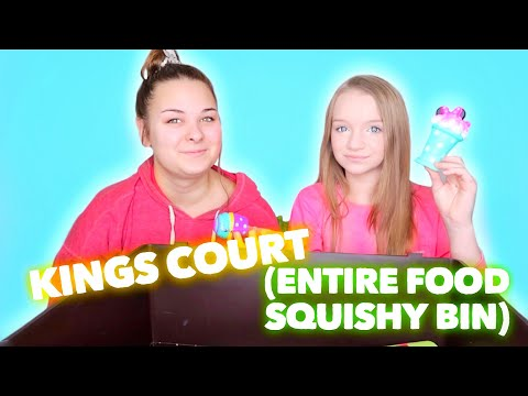 KING'S COURT WITH SQUISHIES | ENTIRE FOOD BIN | Bryleigh Anne