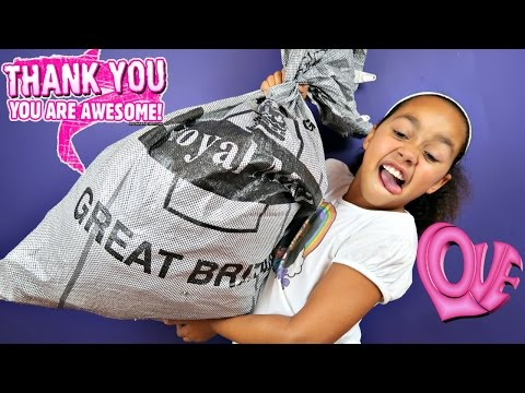 Giant Surprise Fan Mail P O Box Opening - Candy - Shopkins - Kinder Surprise Toy Opening