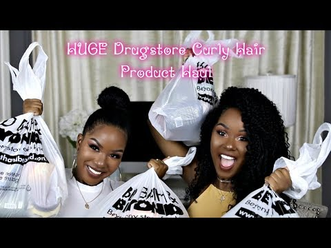 HUGE Drugstore Curly Hair Products Haul