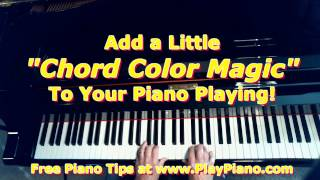 add a little chord color magic to your piano playing