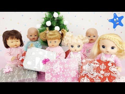 Abren los regalos de Papá Noel: Ani, Ona, Bruno, Abril, Mara y Tamara Muñecas y Juguetes Nenuco Ba