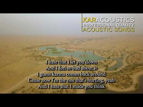 Nobodys Perfect by Jessie J. Acoustic Guitar Backing Track | Acoustic Karaoke