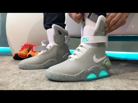 We wear test the self lacing Nike MAG. It's awesome! YouTube