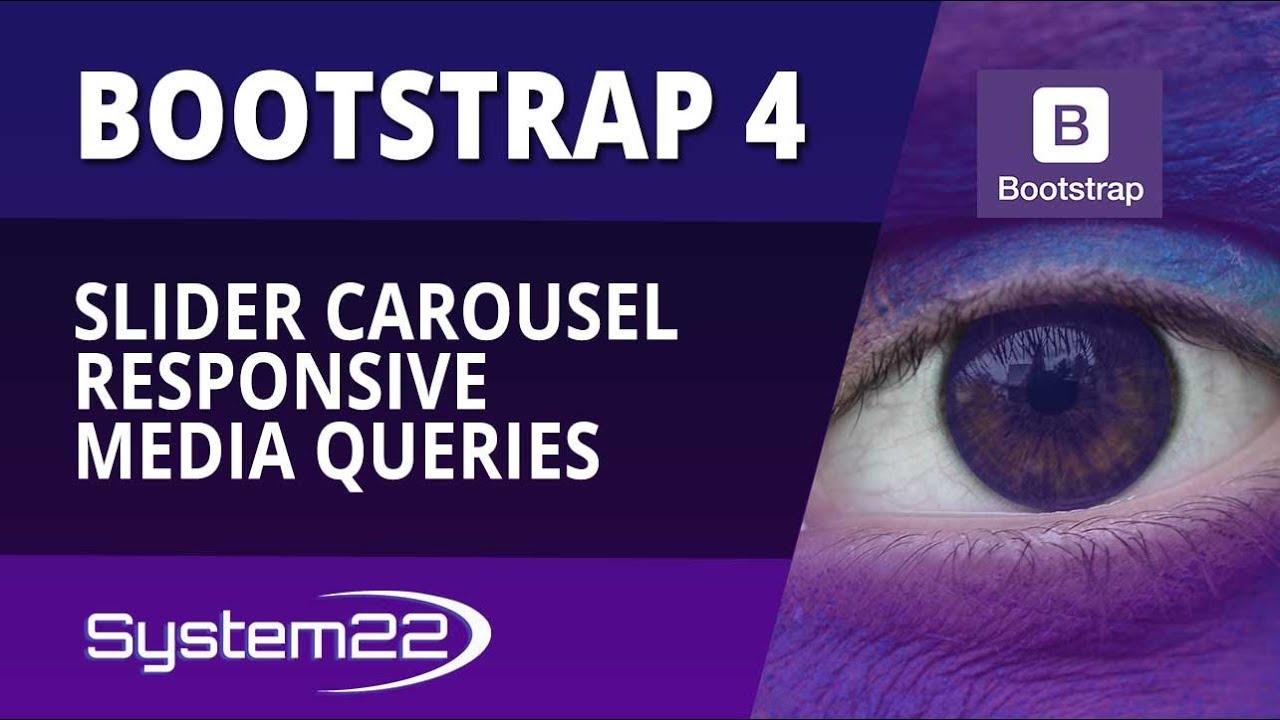 Bootstrap 4 Basics Slider Carousel Responsive Media Queries