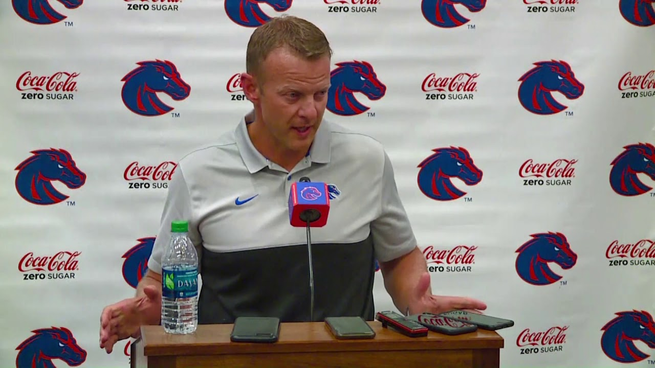 popular brand outlet store fresh styles Boise State coach Bryan Harsin looks ahead to the Broncos' game against the  Air Force Falcons