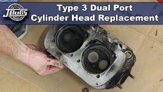 Video JBugs - VW Type 3 - Dual Port Cylinder Head Replacement download MP3, 3GP, MP4, WEBM, AVI, FLV Juli 2018