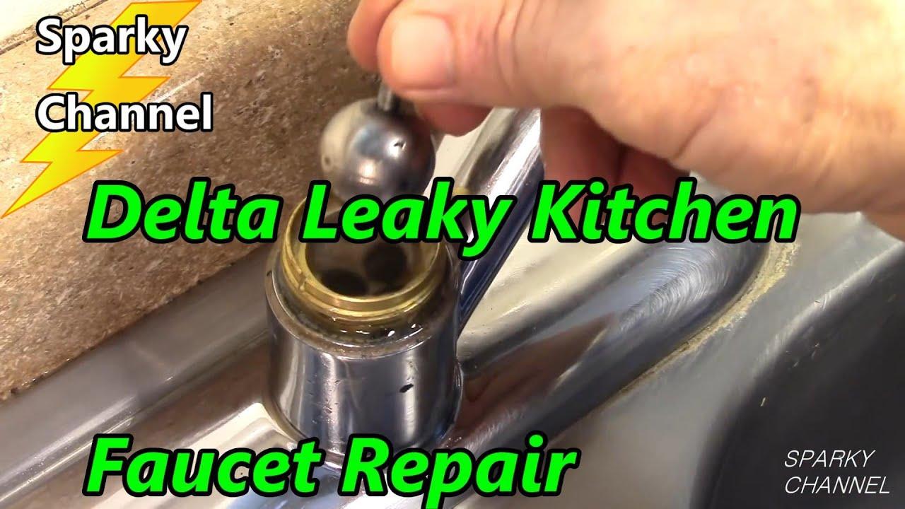 delta kitchen faucet leak repair single handle