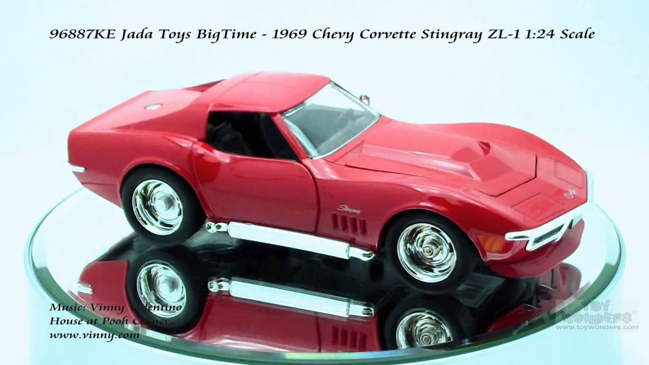 1969 Corvette Stingray >> 96887KE Jada Toys BigTime 1969 Chevy Corvette Stingray ZL1 124 Scale Diecast Wholesale - YouTube