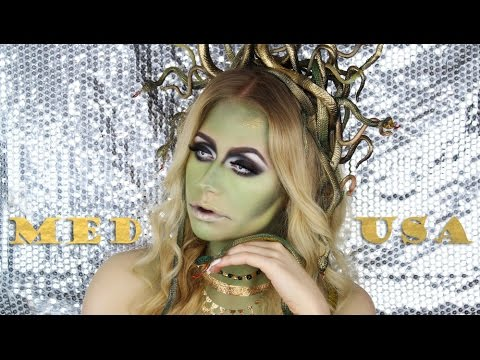 Medusa Halloween Makeup Tutorial + DIY Snake Headpiece ...