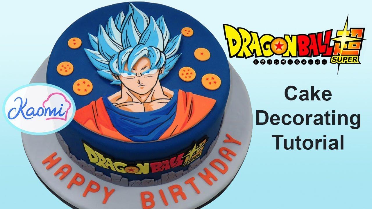 C mo decorar una torta de dragon ball super kaomi for Cuartos decorados de dragon ball z