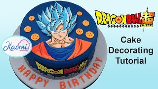 Dragon Ball Super Cake Decorating / Cómo decorar torta de Dragon Ball Super