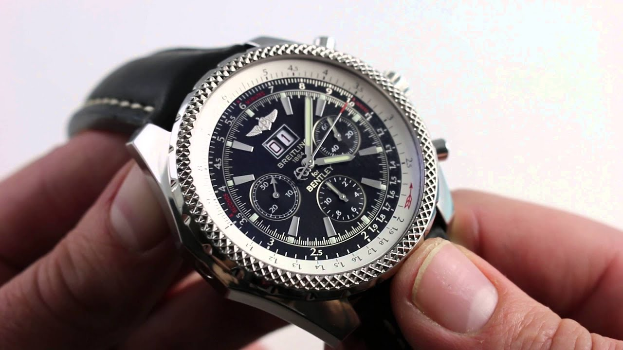 Breitling For Bentley >> Breitling for Bentley 6.75 A44362 Luxury Watch Review - YouTube