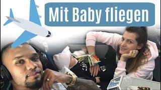 10 STUNDEN FLUG MIT BABY