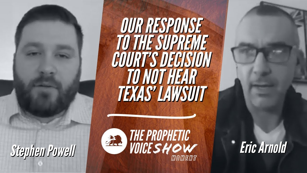 OUR RESPONSE TO THE SUPREME COURT'S DECISION TO NOT HEAR TEXAS' LAWSUIT