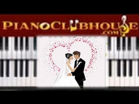 The Bridalwedding March Easy Piano Tutorial Lesson Youtube