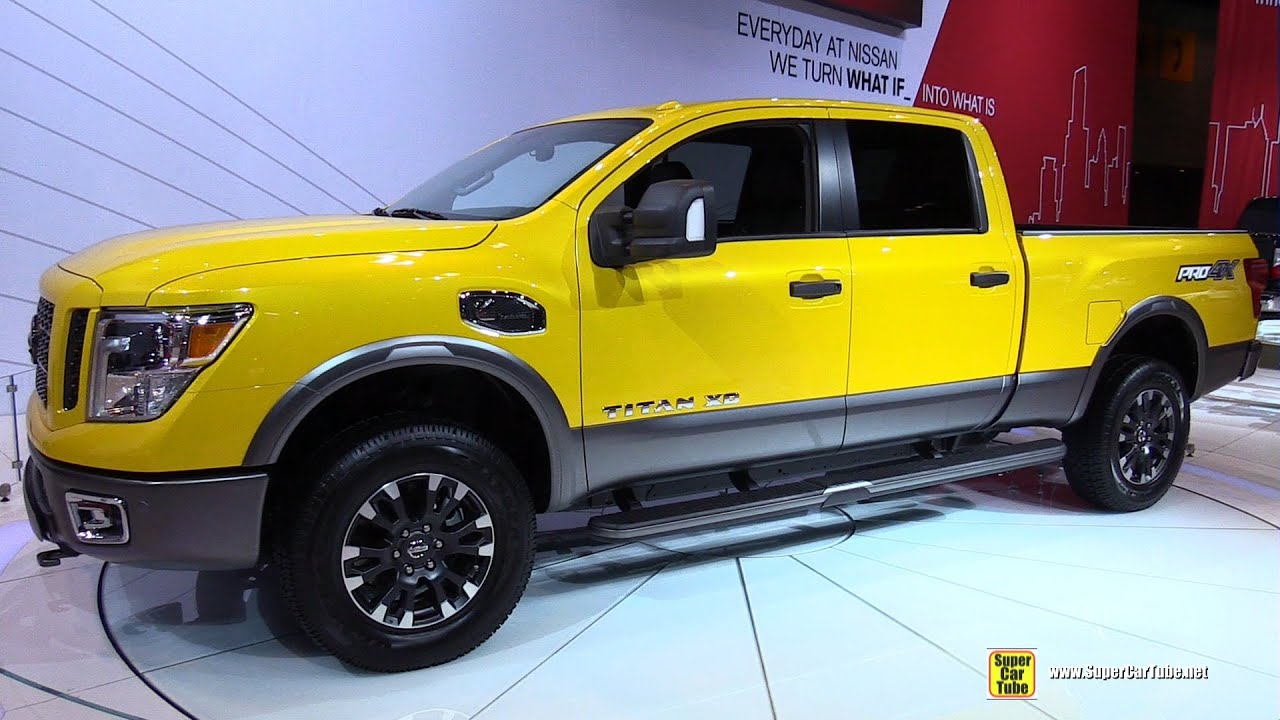 2016 nissan titan xd np 1500 pro 4x exterior and interior walkaround 2015 chicago auto show. Black Bedroom Furniture Sets. Home Design Ideas