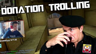 One of Mantrousse's most viewed videos: Donation Trolling MojoOnPC!!!