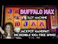 JACKPOT HANDPAY!! OVER 100 FREE SPINS ON BUFFALO MAX ...
