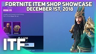 Fortnite Item Shop *NEW* GUAN YU SKIN! [December 1st, 2018] (Fortnite Battle Royale)