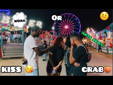 KISS OR GRAB PT.2 👀🍑 | ATL FAIR INTERVIEW (GETS SPICY) #KISSORGRAB #trending