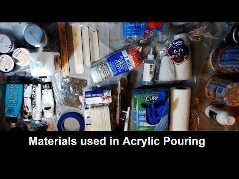 Supplies and Materials for Acrylic Pouring