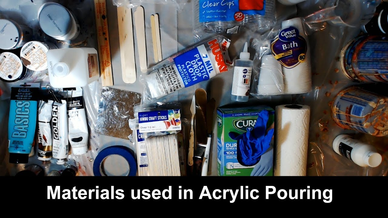 Acrylic Pouring Supply And Materials Youtube