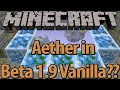 Possible Aether in Beta 1.9? - Ender Realm possibility - ID 119 block mystery - New Air Portal ?