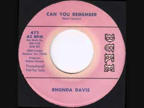 Rhonda Davis     Can You Remember