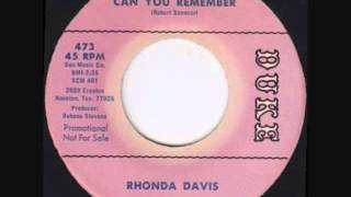 Rhonda Davis  -   Can You Remember