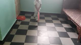Samarth playing cricket with his uncle