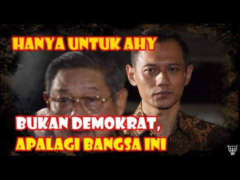 Perjuangan SBY untuk Karir AHY, Bukan untuk Partai Demokrat, Apalagi untuk Bangsa Ini