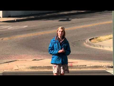 Backward Cyclist Video Bombs Reporter