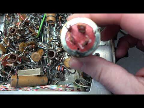 How to replace Collins KWM2 filter capacitors Fix hum audio motor boating