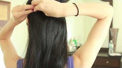 How to wear clip-in hair extensions Euronext Remy 18 inch